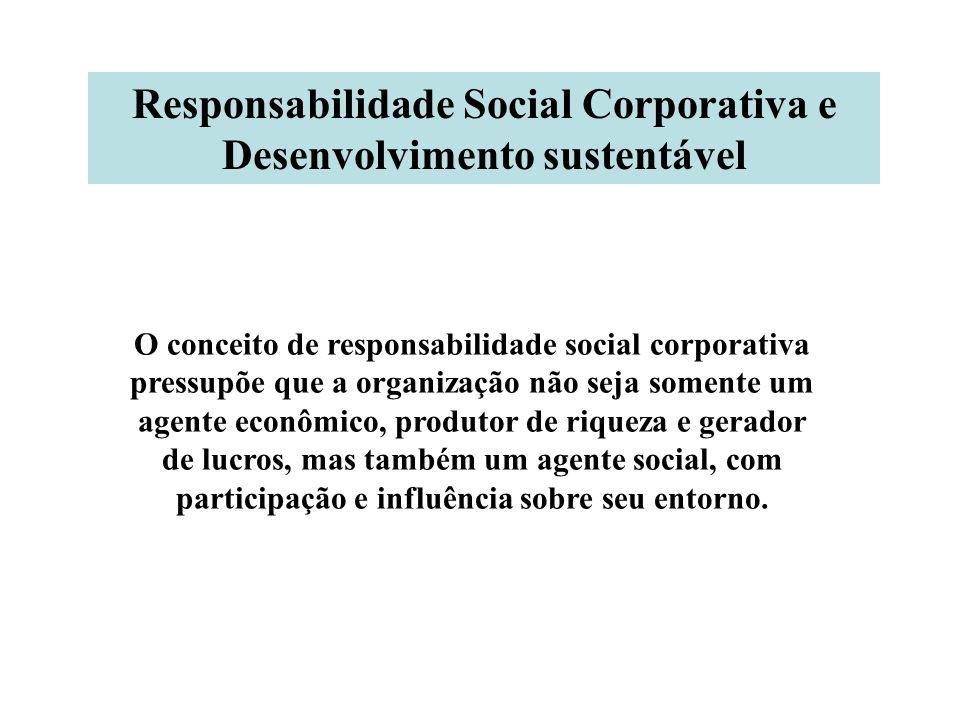 Responsabilidade Social Corporativa e Desenvolvimento sustentável