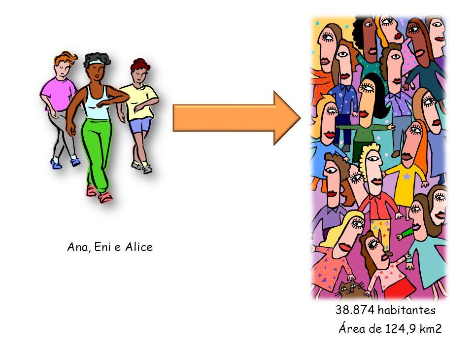 Ana, Eni e Alice 38.874 habitantes Área de 124,9 km2