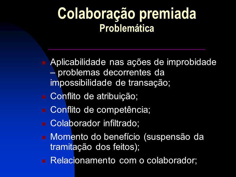 Colaboração premiada Problemática ______________________
