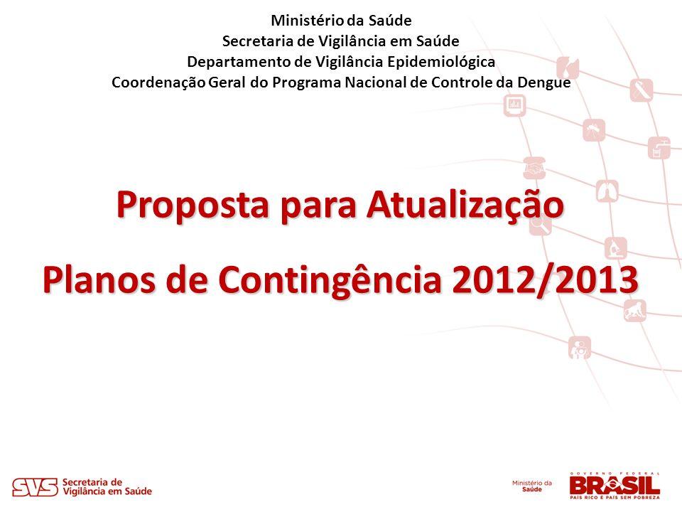 Proposta para Atualização Planos de Contingência 2012/2013