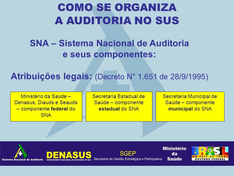 SNA – Sistema Nacional de Auditoria