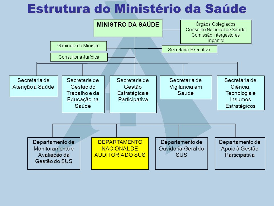 Estrutura do Ministério da Saúde