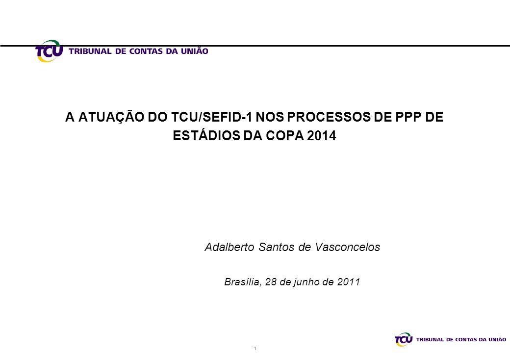 A ATUAÇÃO DO TCU/SEFID-1 NOS PROCESSOS DE PPP DE ESTÁDIOS DA COPA 2014