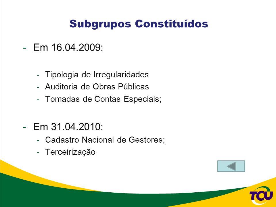 Subgrupos Constituídos