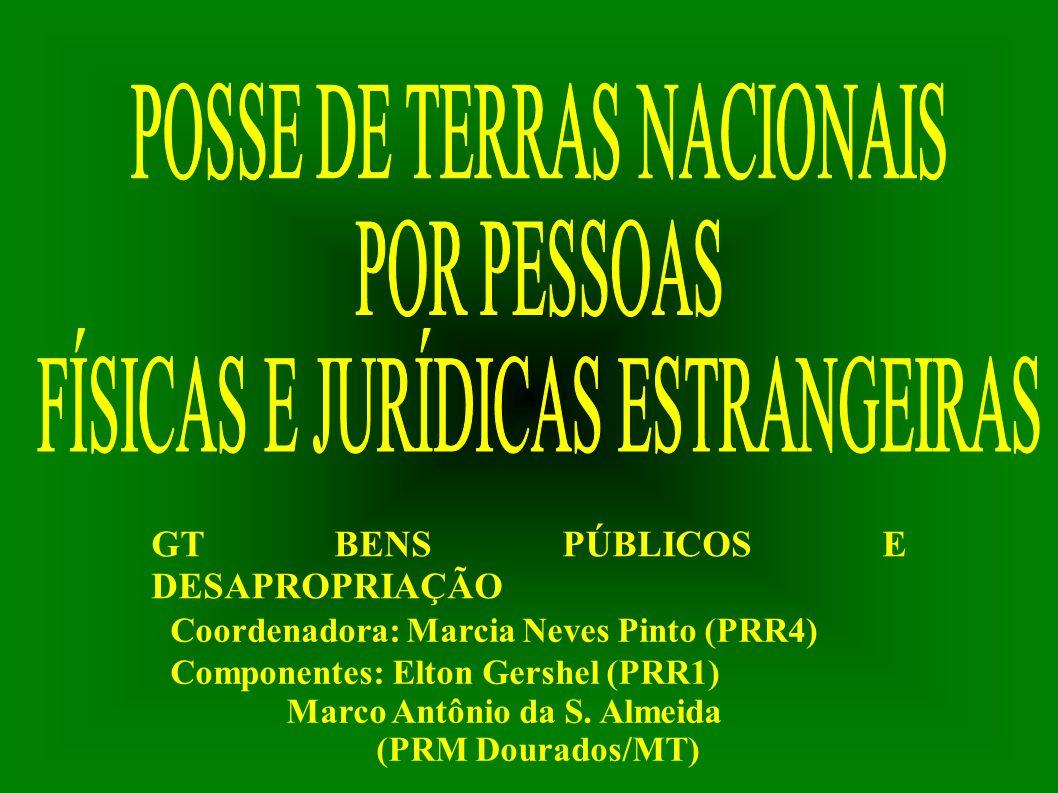 POSSE DE TERRAS NACIONAIS POR PESSOAS FÍSICAS E JURÍDICAS ESTRANGEIRAS