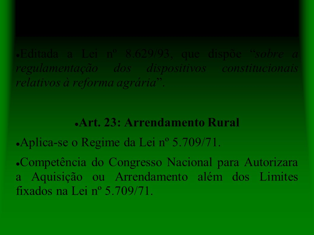 Art. 23: Arrendamento Rural