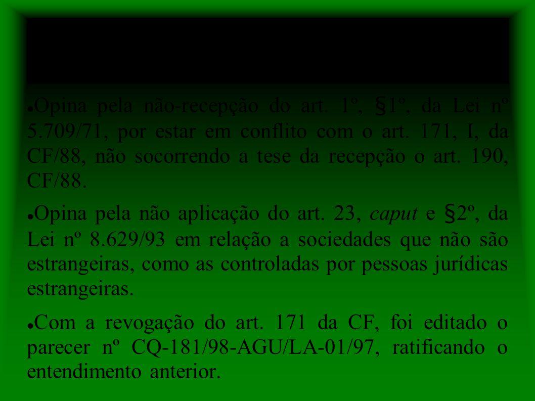 Parecer nº AGU/LA-04/94