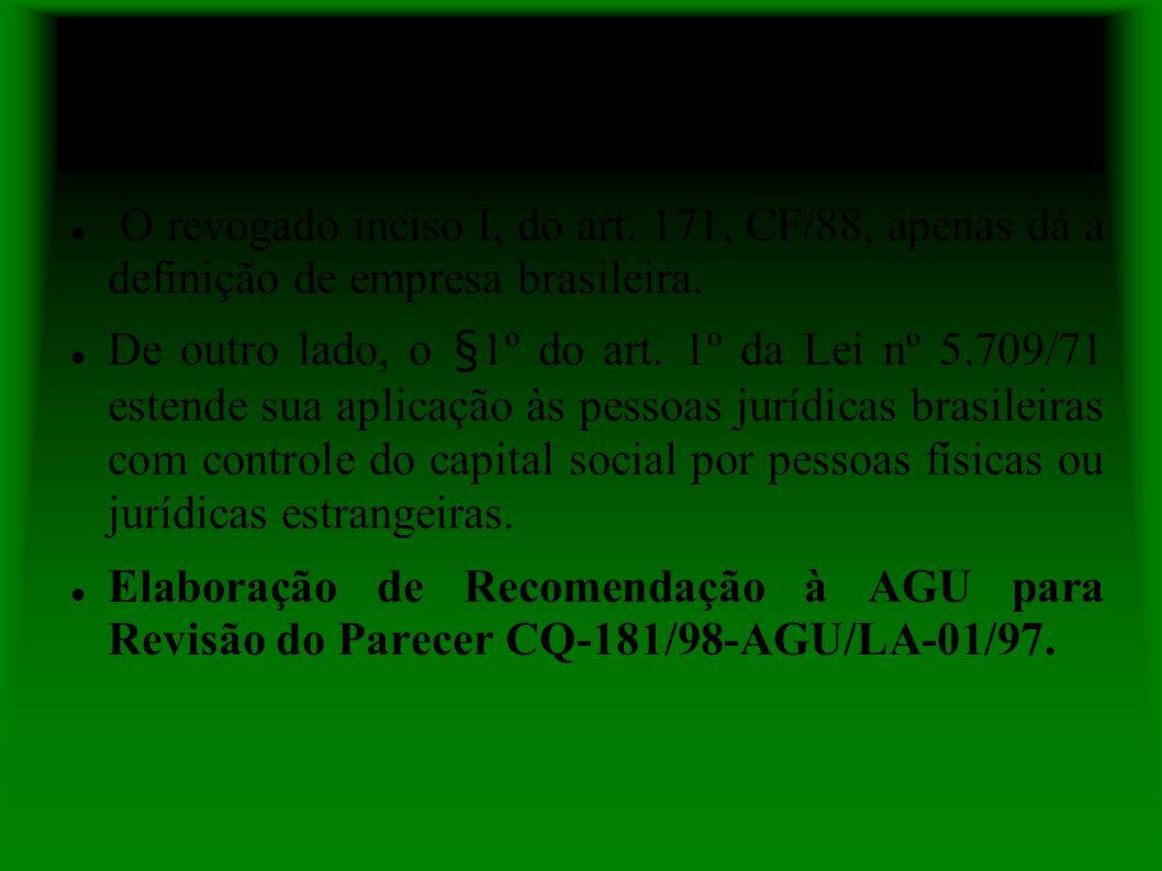 Posição do GT Bens Públicos e Desapropriação da 5ª CCR do MPF
