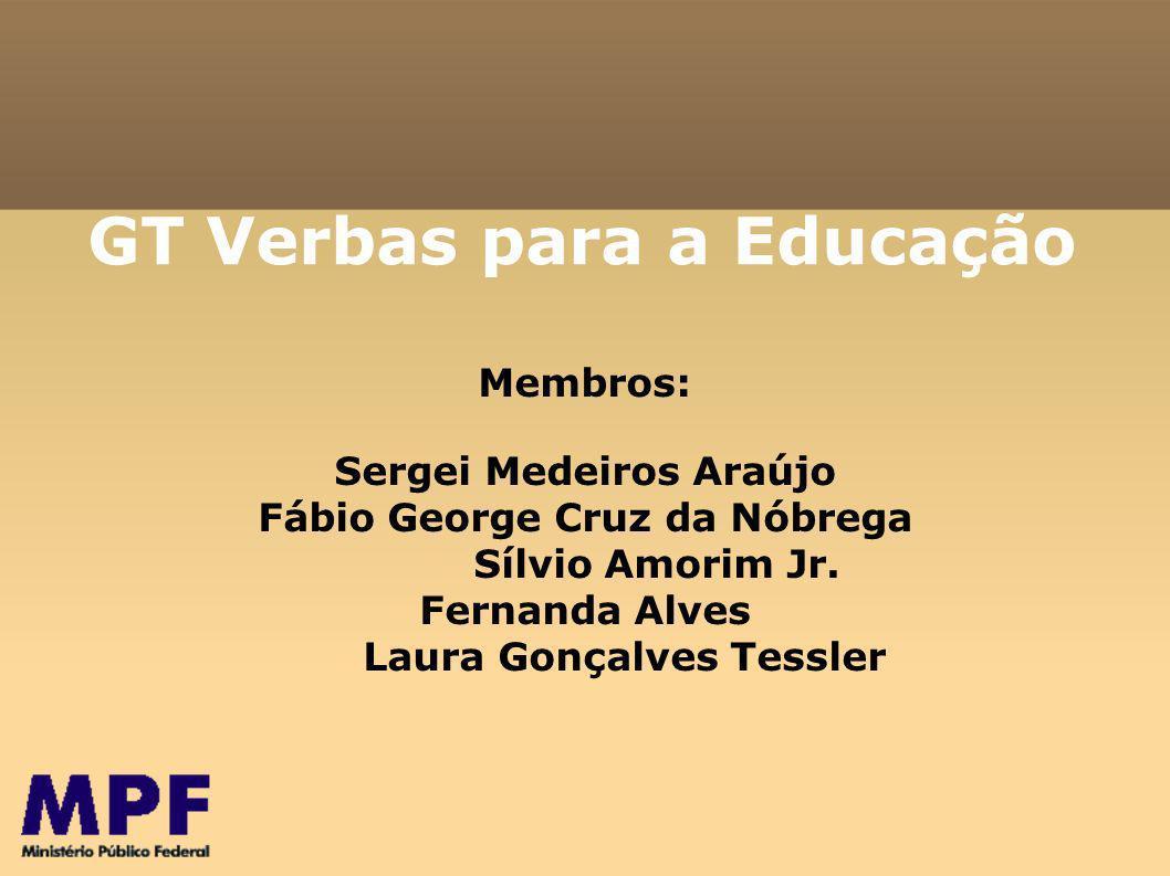 GT Verbas para a Educação