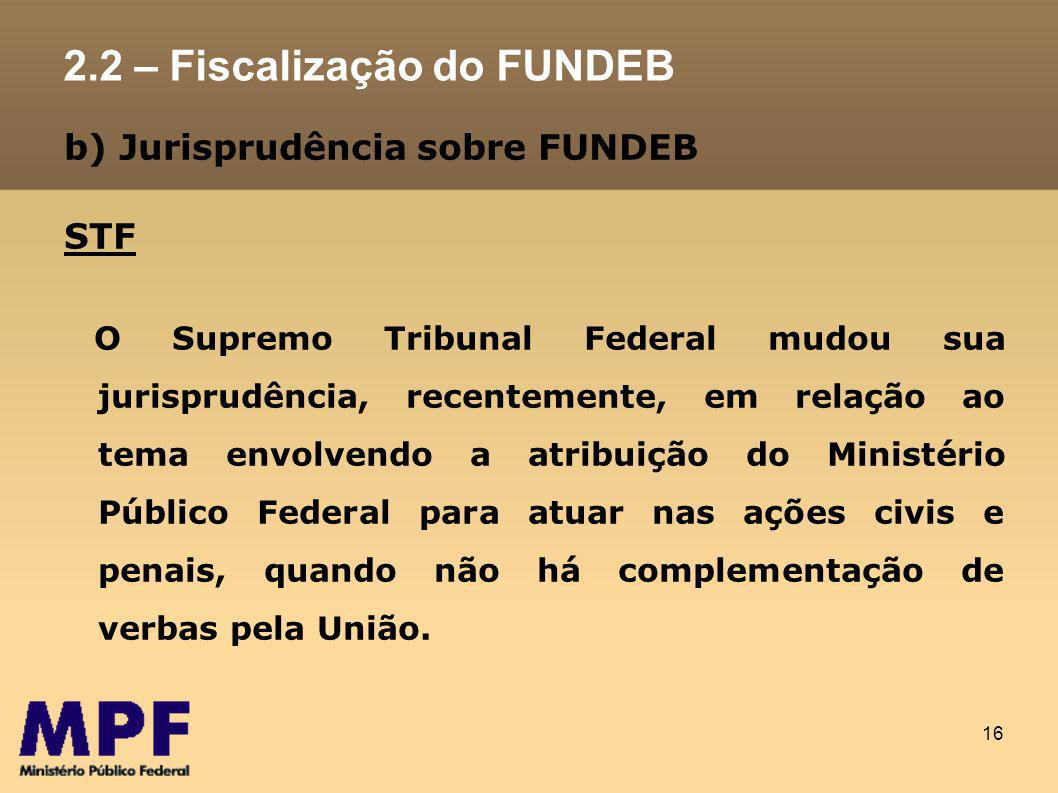 2.2 – Fiscalização do FUNDEB