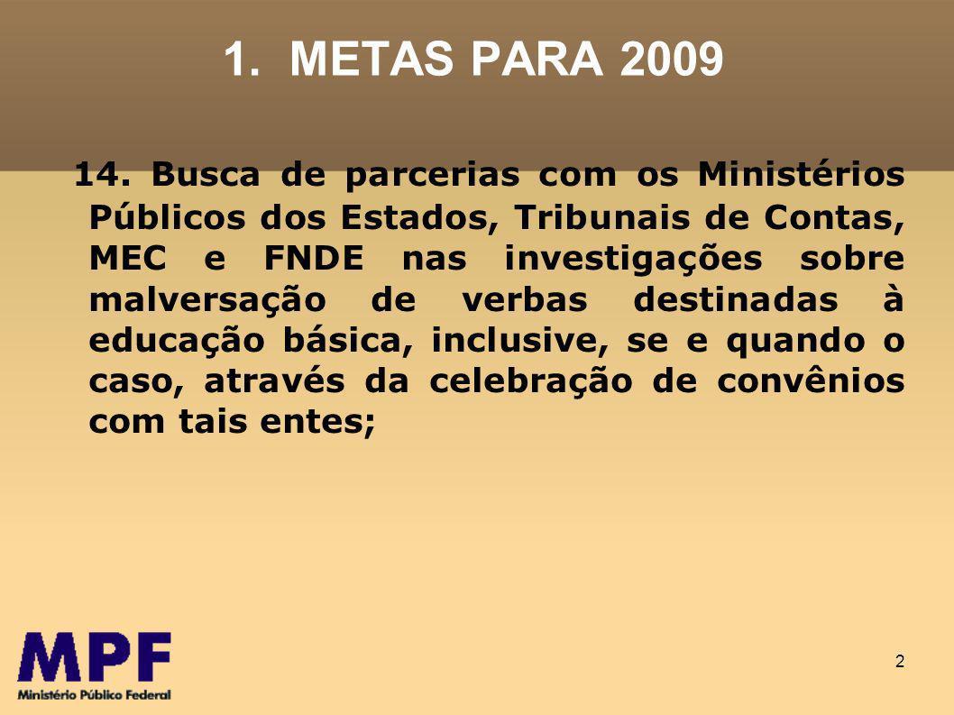 1. METAS PARA 2009
