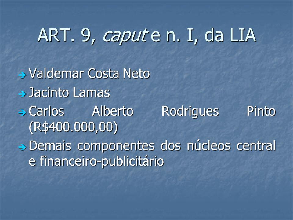 ART. 9, caput e n. I, da LIA Valdemar Costa Neto Jacinto Lamas