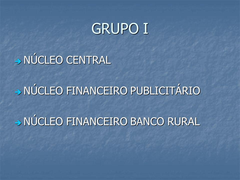 GRUPO I NÚCLEO CENTRAL NÚCLEO FINANCEIRO PUBLICITÁRIO