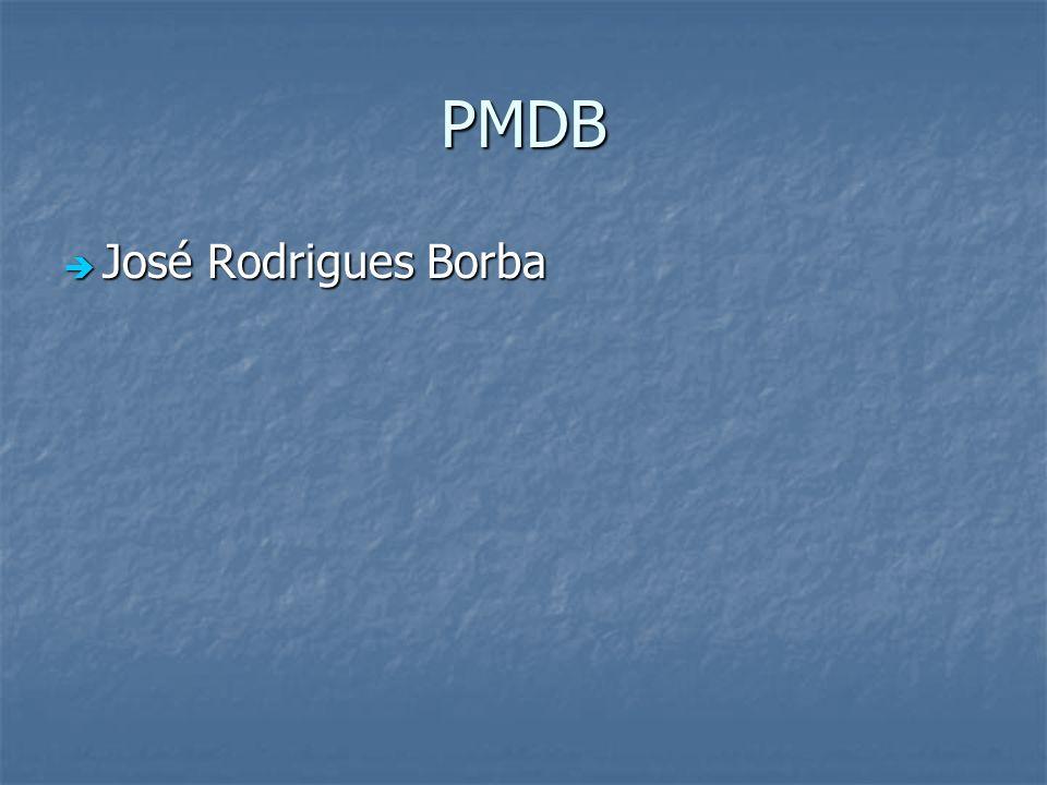 PMDB José Rodrigues Borba