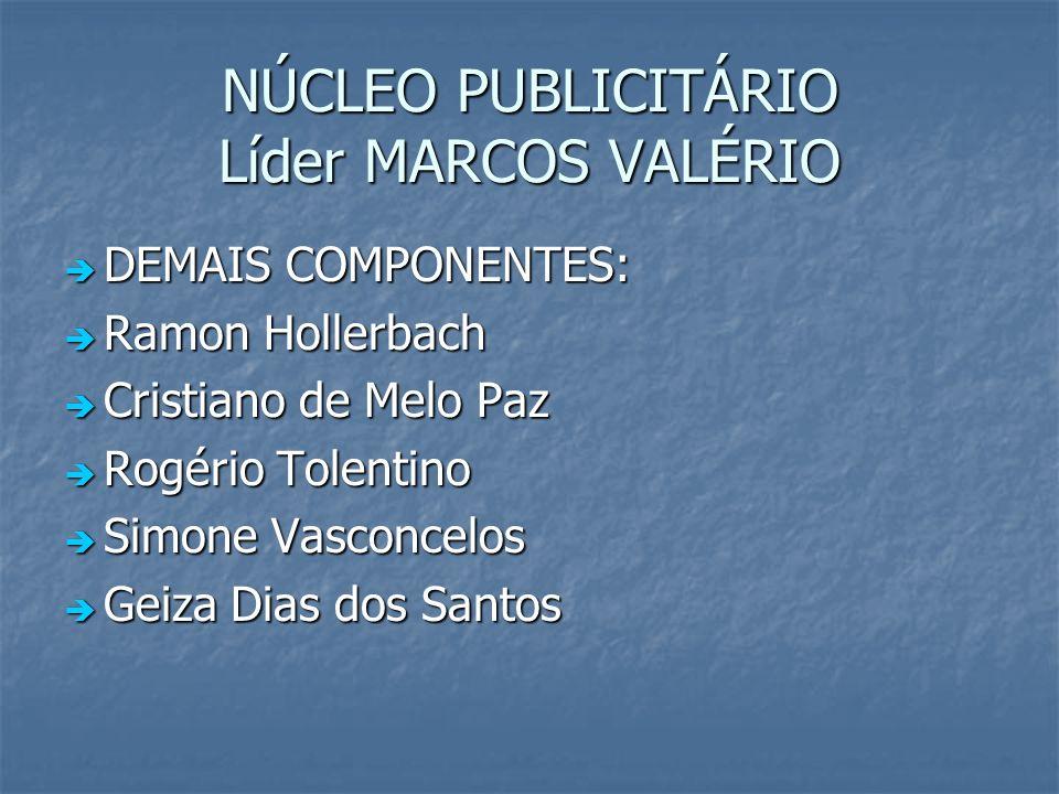 NÚCLEO PUBLICITÁRIO Líder MARCOS VALÉRIO