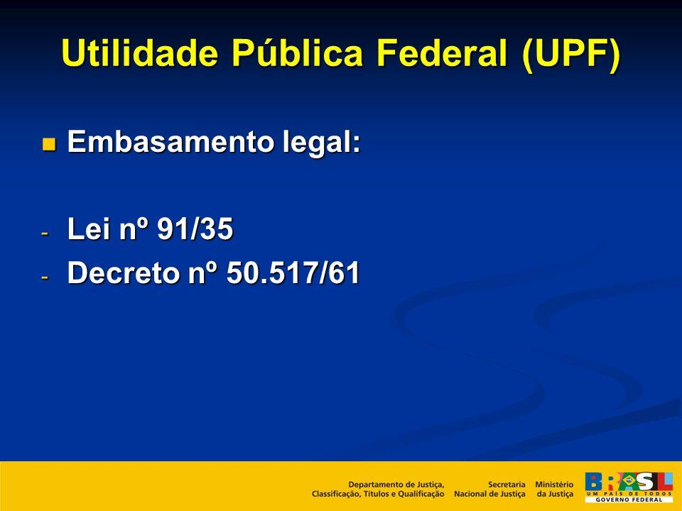 Utilidade Pública Federal (UPF)
