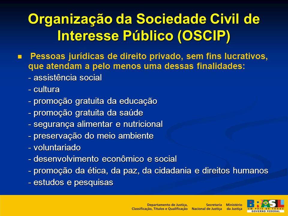 Organização da Sociedade Civil de Interesse Público (OSCIP)