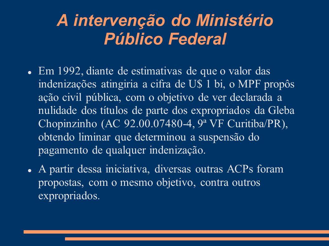 A intervenção do Ministério Público Federal