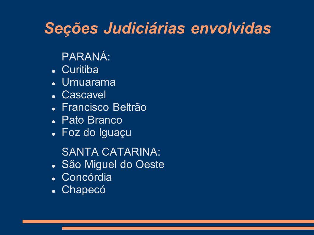 Seções Judiciárias envolvidas