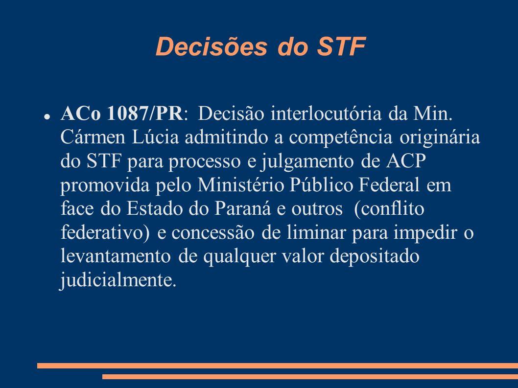 Decisões do STF