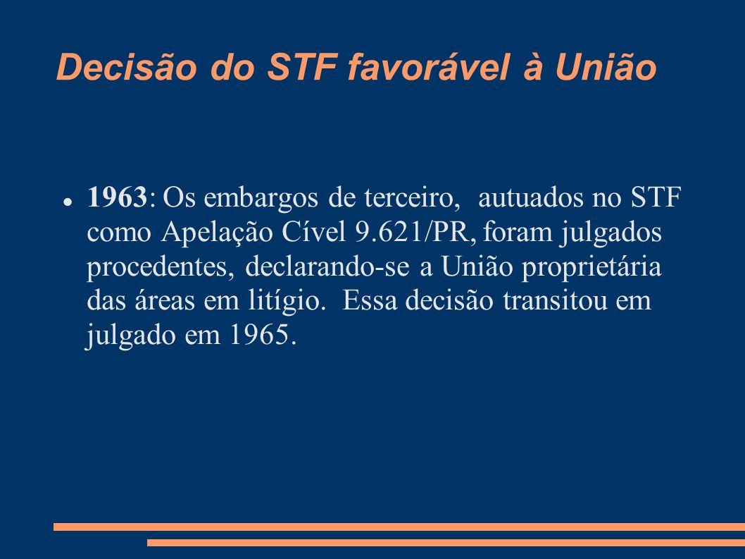 Decisão do STF favorável à União