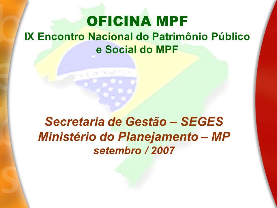 OFICINA MPF Secretaria de Gestão – SEGES
