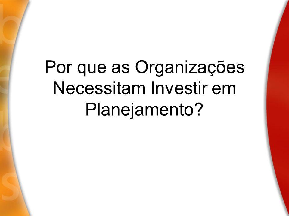 Por que as Organizações Necessitam Investir em Planejamento