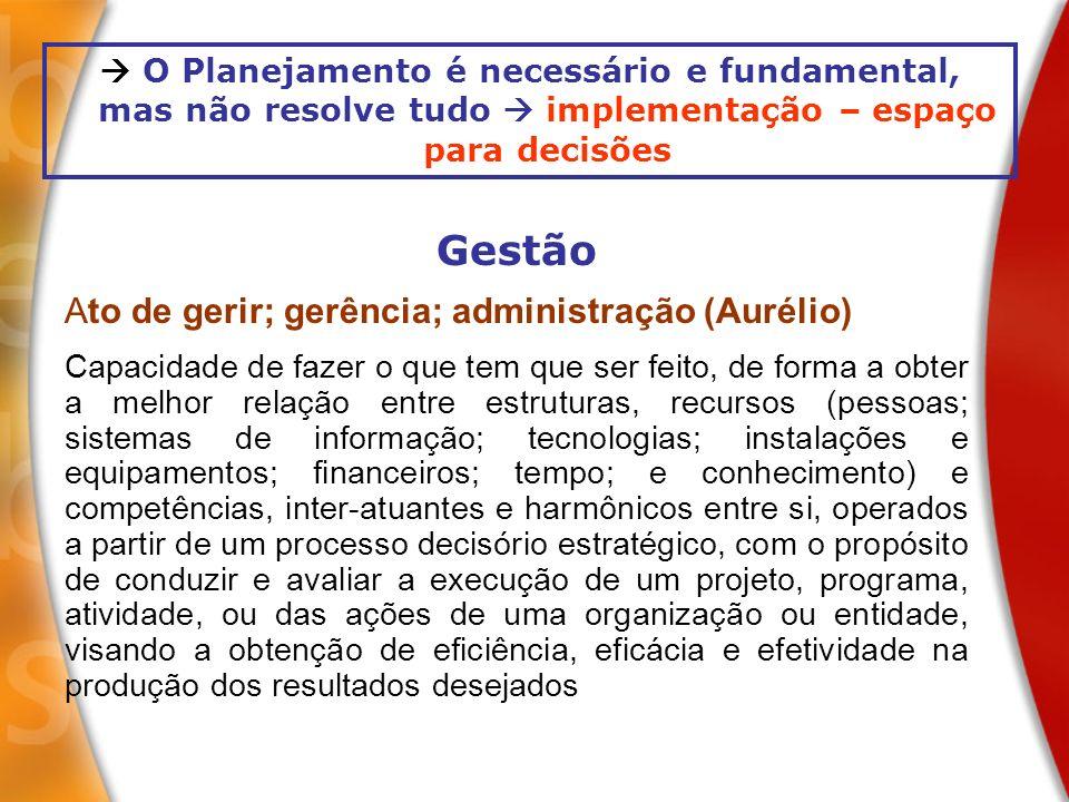 Gestão Ato de gerir; gerência; administração (Aurélio)