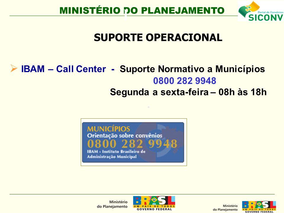 l IBAM – Call Center - Suporte Normativo a Municípios