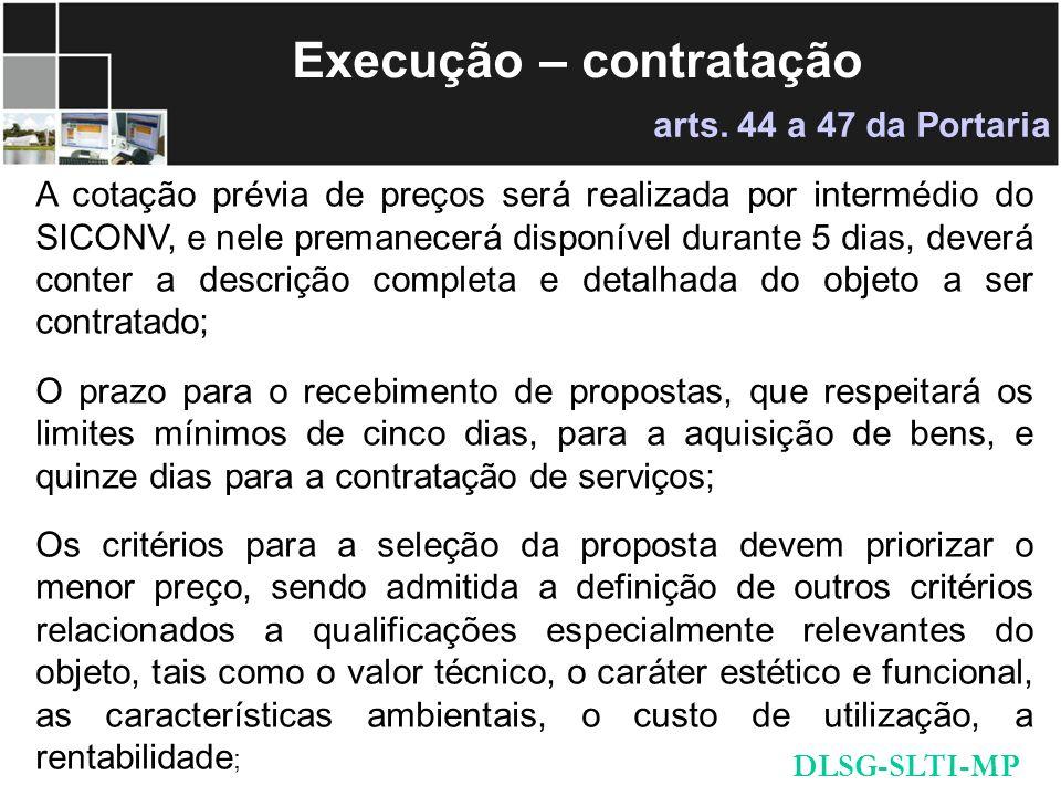 Execução – contratação