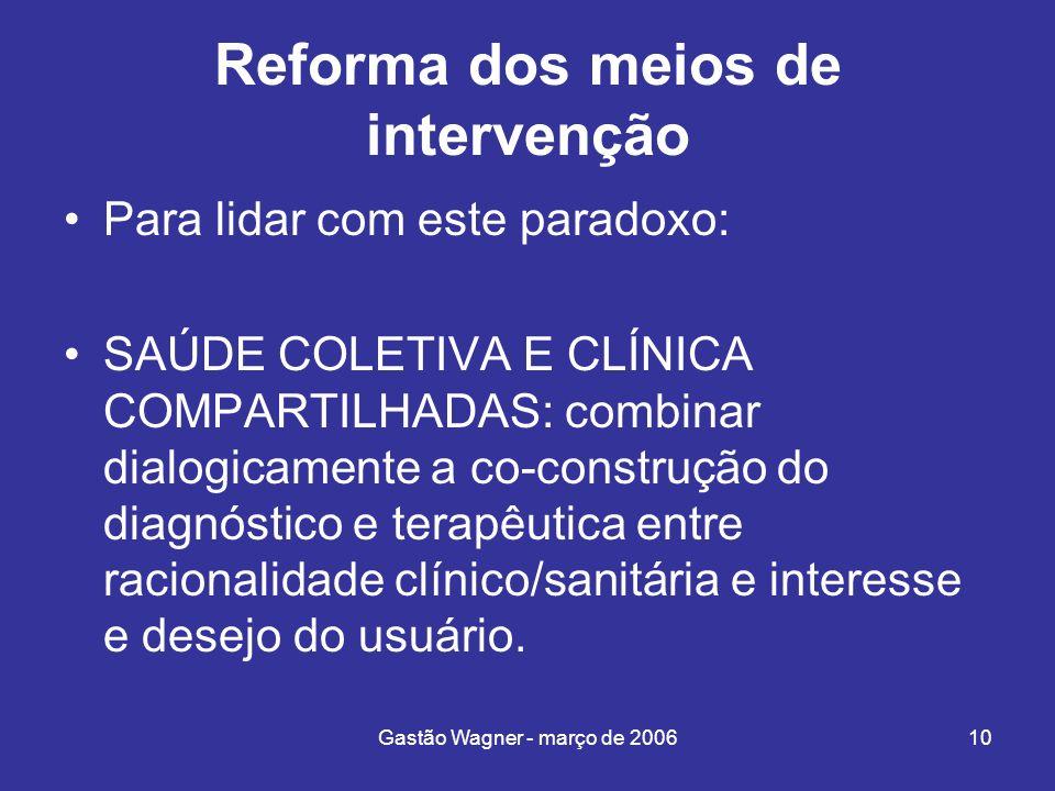 Reforma dos meios de intervenção