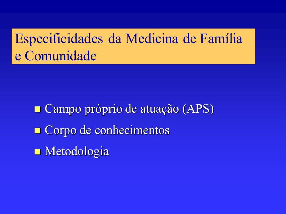 Especificidades da Medicina de Família e Comunidade