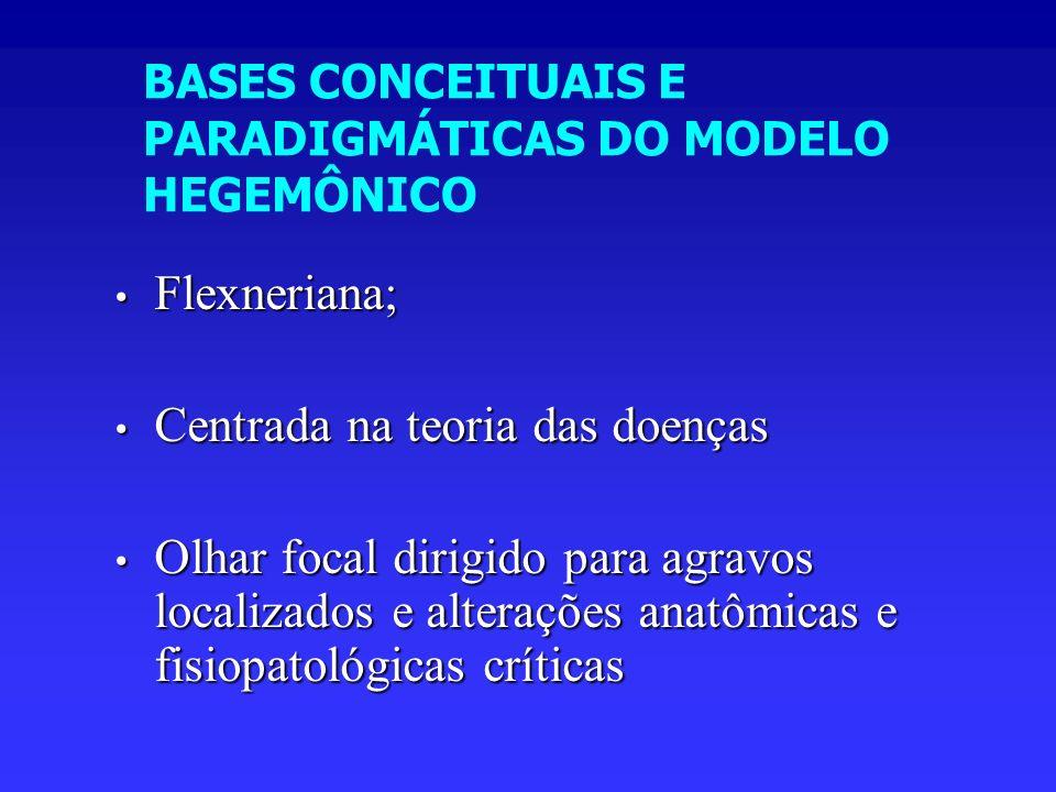 BASES CONCEITUAIS E PARADIGMÁTICAS DO MODELO HEGEMÔNICO
