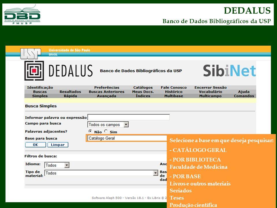 DEDALUS Banco de Dados Bibliográficos da USP