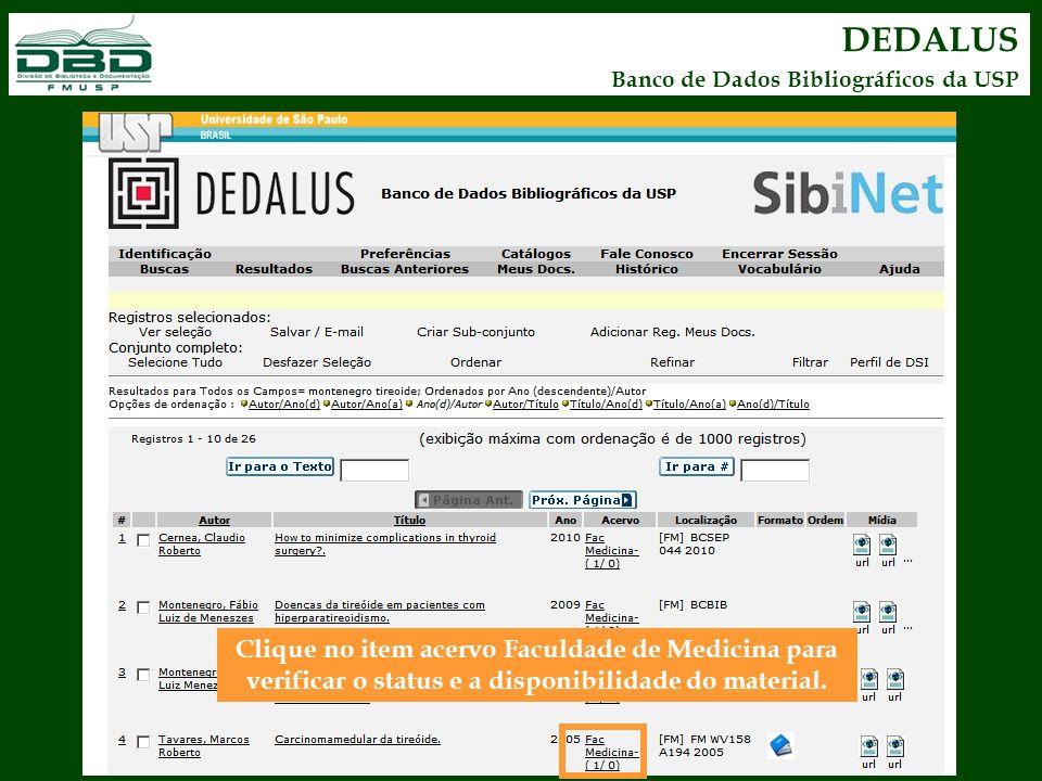 DEDALUS Banco de Dados Bibliográficos da USP.