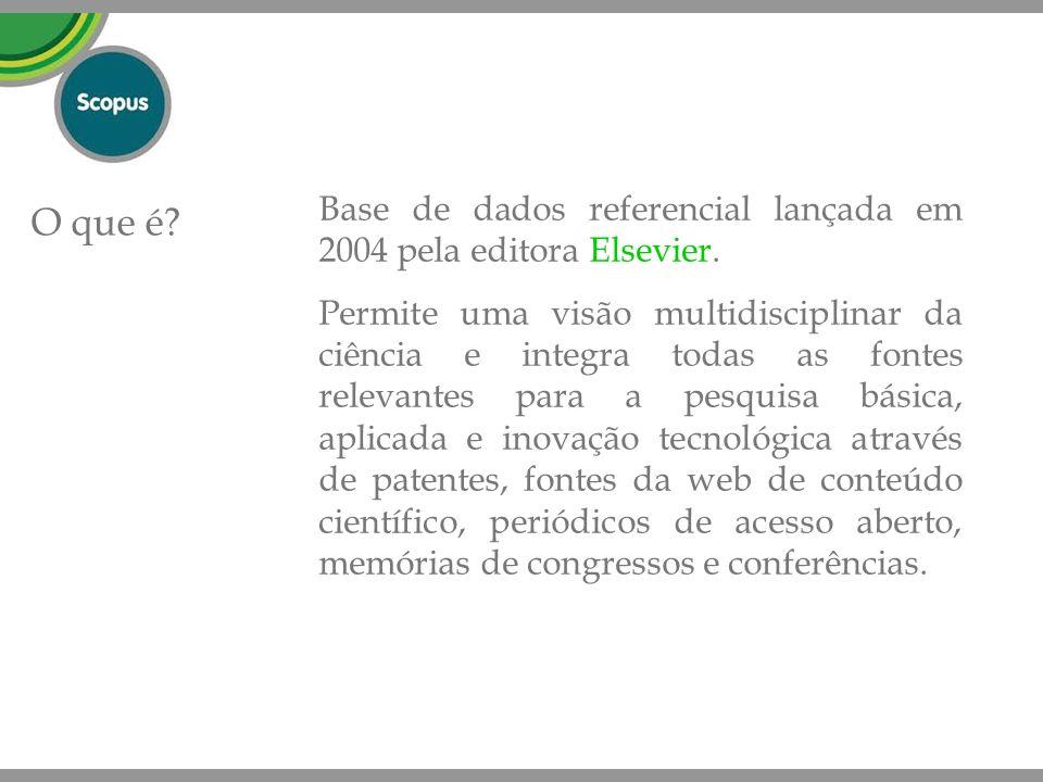 Base de dados referencial lançada em 2004 pela editora Elsevier.