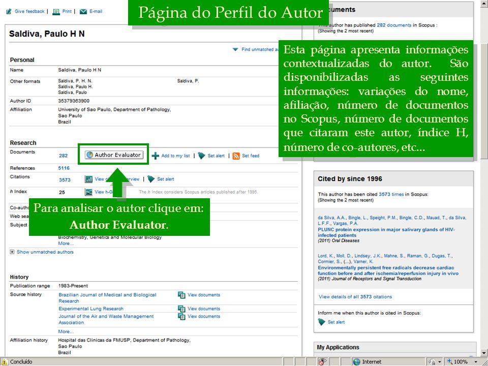 Página do Perfil do Autor