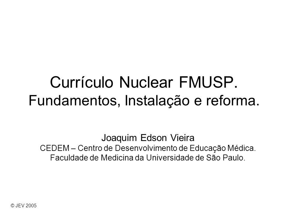 Currículo Nuclear FMUSP. Fundamentos, Instalação e reforma.