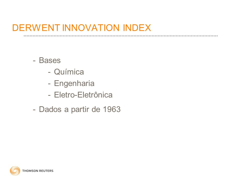 DERWENT INNOVATION INDEX