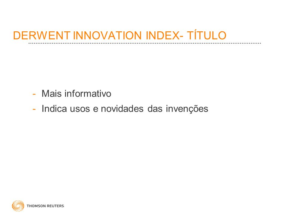 DERWENT INNOVATION INDEX- TÍTULO