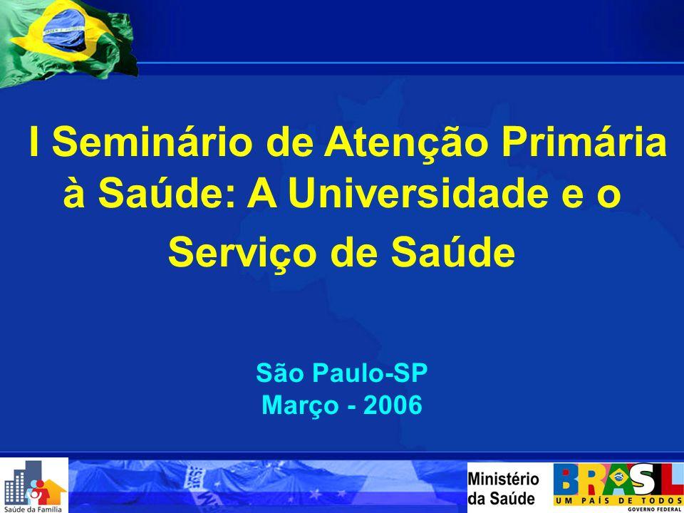 I Seminário de Atenção Primária à Saúde: A Universidade e o Serviço de Saúde
