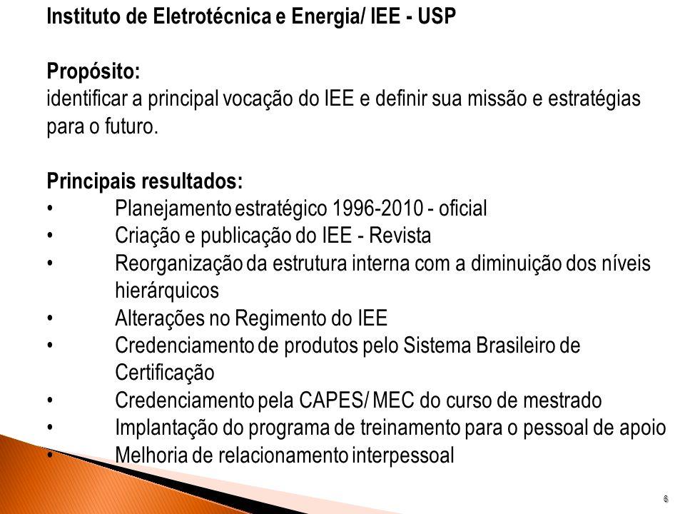 Instituto de Eletrotécnica e Energia/ IEE - USP