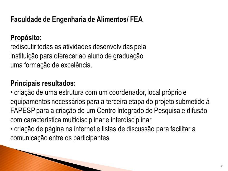 Faculdade de Engenharia de Alimentos/ FEA