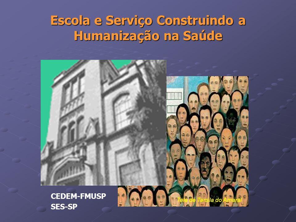 Escola e Serviço Construindo a Humanização na Saúde