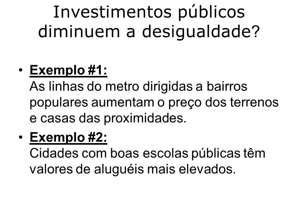 Investimentos públicos diminuem a desigualdade