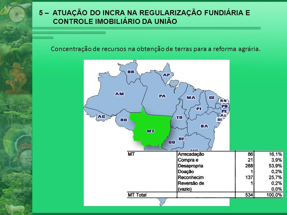 5 – ATUAÇÃO DO INCRA NA REGULARIZAÇÃO FUNDIÁRIA E
