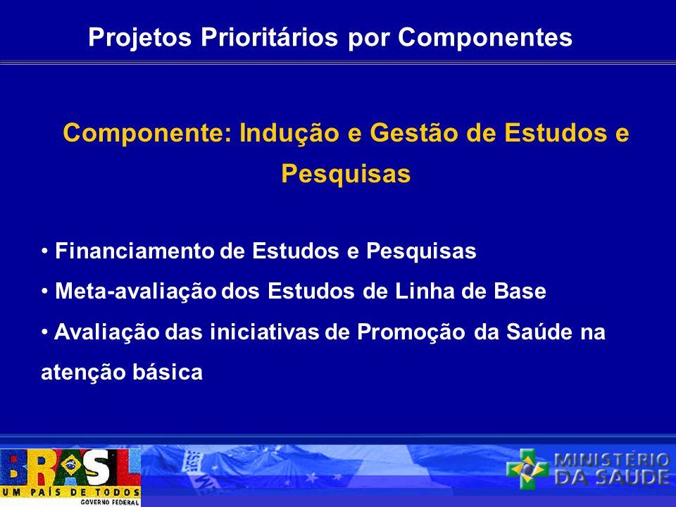 Projetos Prioritários por Componentes