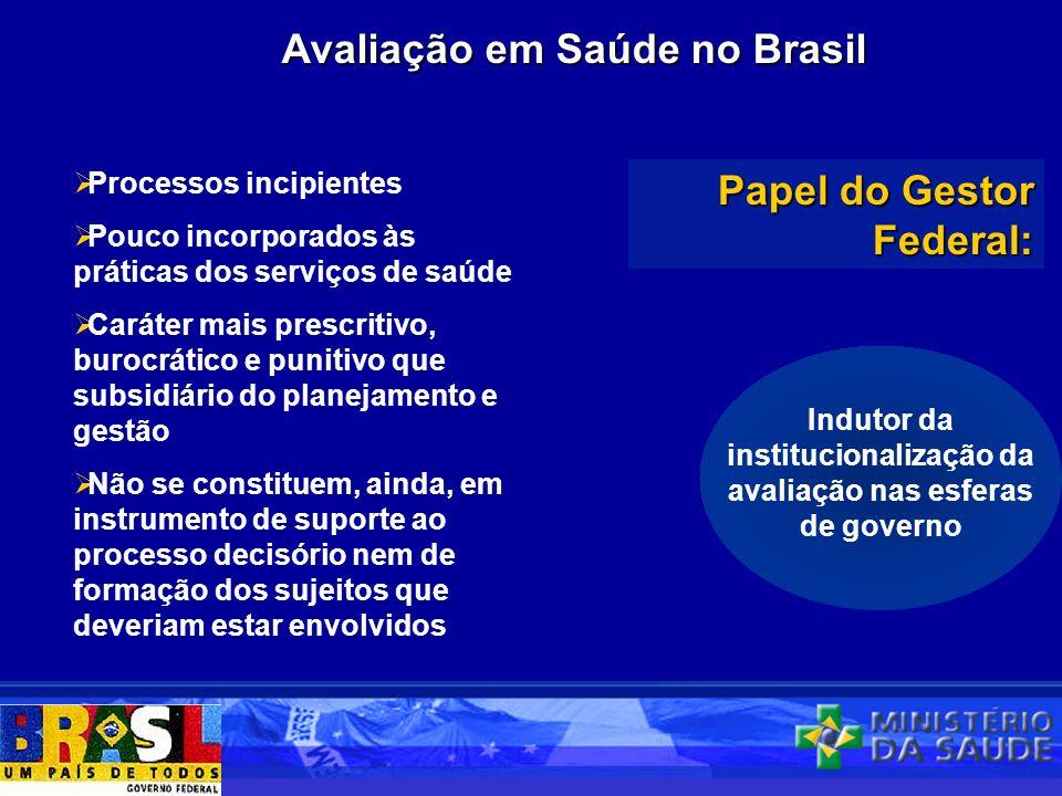 Avaliação em Saúde no Brasil
