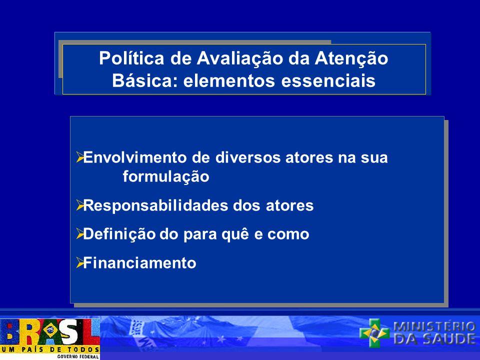 Política de Avaliação da Atenção Básica: elementos essenciais