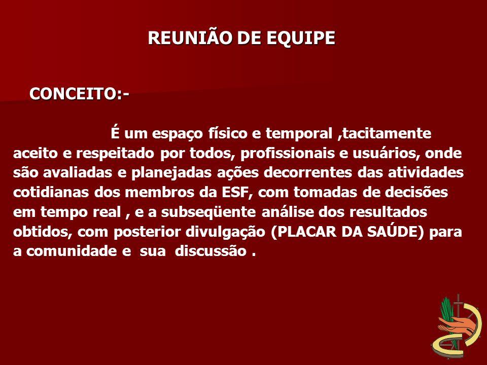 REUNIÃO DE EQUIPE CONCEITO:-